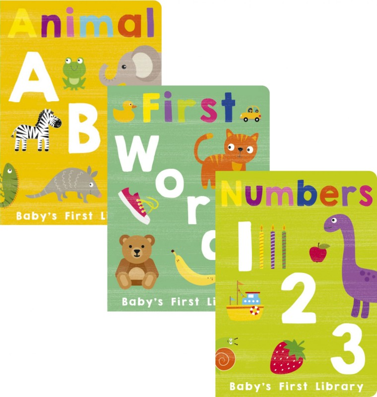 Baby's First Library: Animal ABC • First Words • Numbers 1, 2, 3