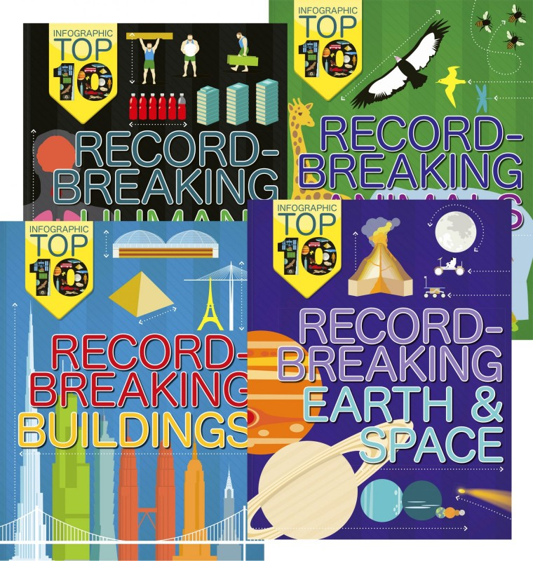 Infographic Top 10: Record-breaking Humans • Record-Breaking Animals • Record-Breaking Buildings • Record-Breaking Earth & Space