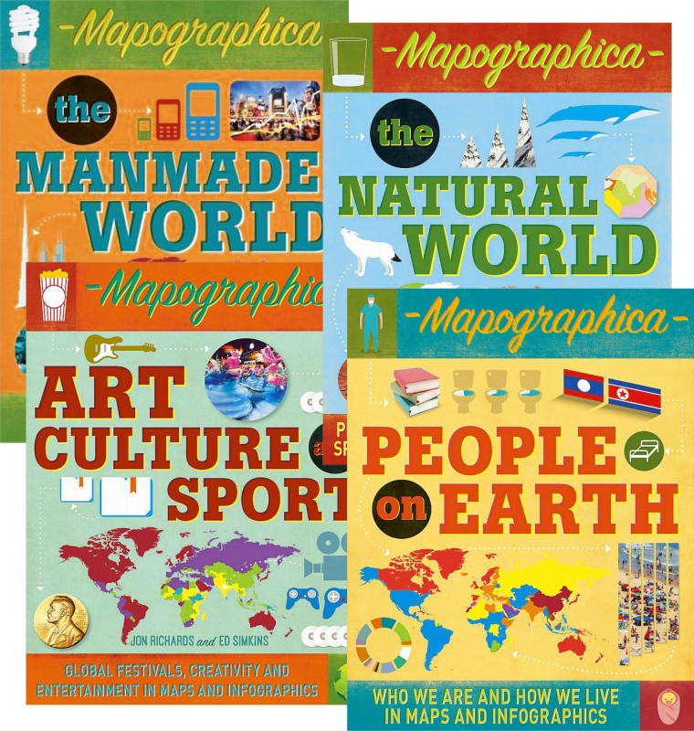 Mapographica: The Manmade World • The Natural World • Art, Culture and Sport • People on Earth