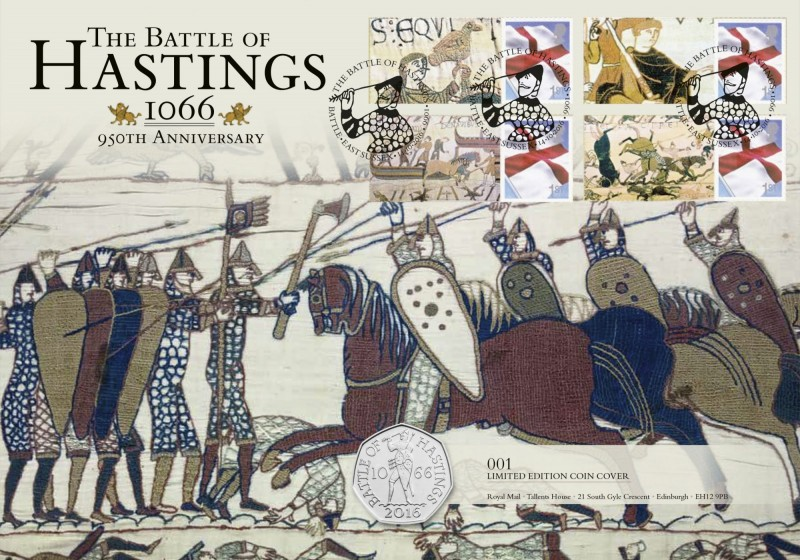 Battle of Hastings 950th Anniversary – Limited Edition 50p Coin & First Day Cover Stamps