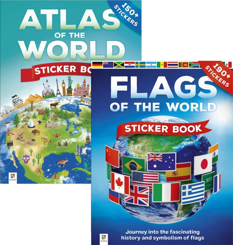 Sticker Books: Atlas of the World • Flags of the World