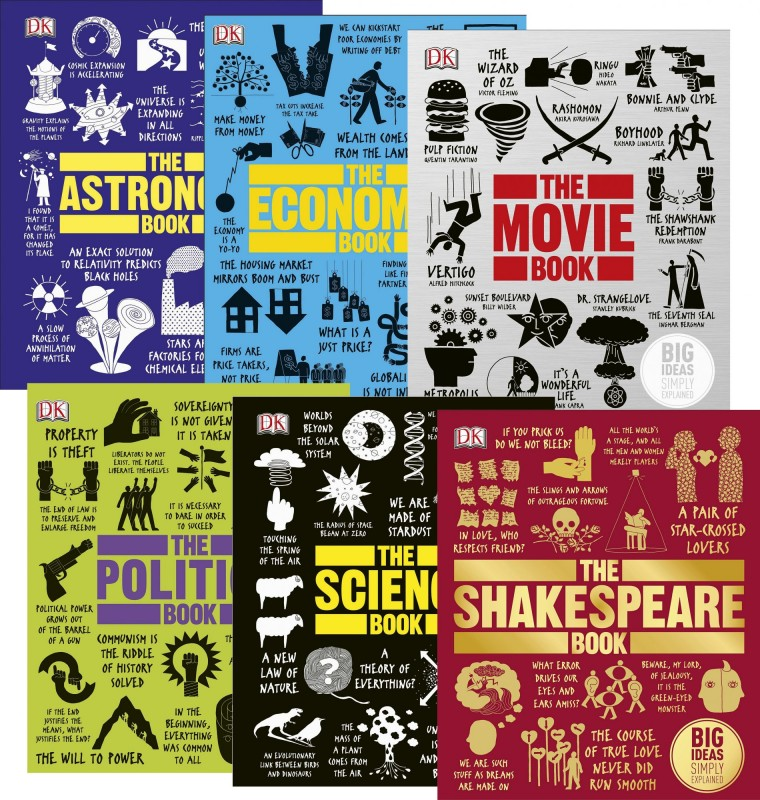Big Ideas: The Astronomy Book • The Economics Book • The Movie Book • The Politics Book • The Science Book • The Shakespeare Book