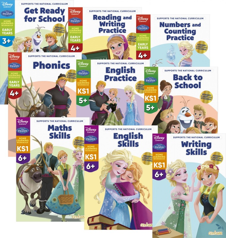 Disney Learning – Frozen: Get Ready for School • Reading and Writing Practice • Numbers and Counting Practice • Phonics • English Practice • Back to School • Maths Skills • English Skills • Writing Skills
