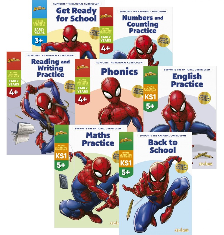 Disney Learning – Spider-Man: Get Ready for School • Numbers and Counting Practice • Reading and Writing Practice • Phonics • English Practice • Maths Practice • Back to School